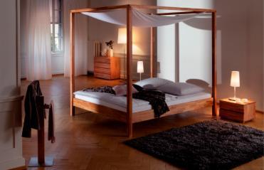 Schlafzimmer - Bett unterm fenster ...